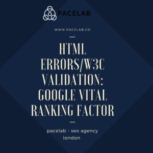 "HTML errors/W3C validation: ""pacelab - seo agency london"