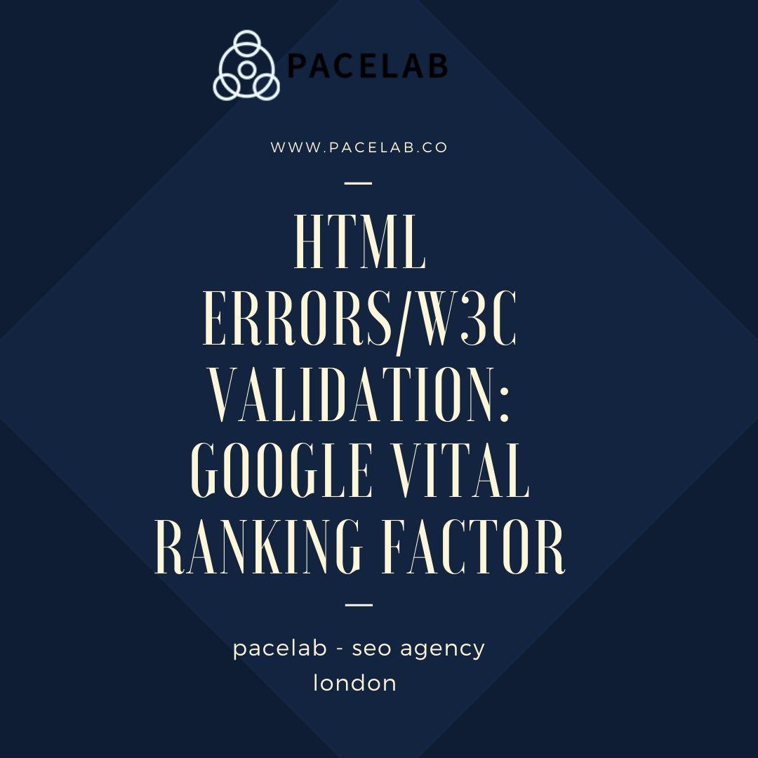 "HTML errors/W3C validation: ""pacelab - seo agency london"